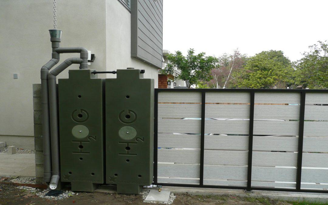 Nieuw systeem voor regenwater-opvang.