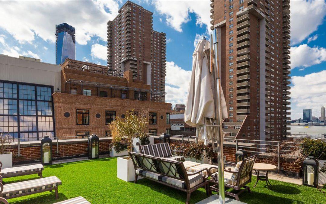 Penthouse met groen dak venieuwend idee.