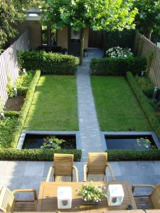 tuincursus-online.nl/kleine tuin met symmetrie